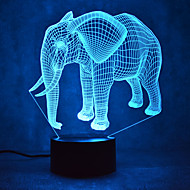 kerstmis olifant aanraking dimmen 3D LED 's nachts licht 7colorful decoratie sfeer lamp nieuwigheid verlichting kerstverlichting