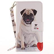 Для Чехлы панели Бумажник для карт Кошелек со стендом Флип С узором Чехол Кейс для С собакой Твердый Искусственная кожа для AppleiPhone 7