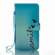 Für Geldbeutel Kreditkartenfächer mit Halterung Flipbare Hülle Muster Hülle Handyhülle für das ganze Handy Hülle Wort / Satz HartPU -