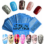 voordelige -48pcs/set Nagelkunst sticker Watertransfer decals Kant Sticker make-up Cosmetische Nagelkunst ontwerp