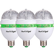 3W LED-kohdevalaisimet 3 Teho-LED 250 lm RGB Koristeltu AC 85-265 V 3 kpl