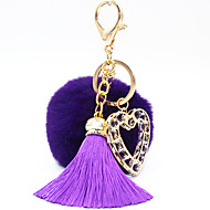 cheap Toys & Hobbies-Key Chain Toys Key Chain Circular Heart-Shaped Metal 1 Pieces Not Specified Christmas Valentine's Day Gift