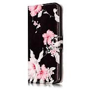 Недорогие Кейсы для iPhone 8 Plus-Кейс для Назначение Apple iPhone X iPhone 8 Бумажник для карт Кошелек со стендом Флип С узором Чехол Цветы Твердый Кожа PU для iPhone X