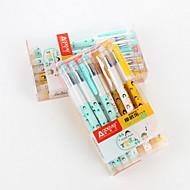 お買い得  ペン/鉛筆-ジェルペン ペン ゲルのペン ペン,プラスチック バレル ブルー インク色 For 学用品 事務用品 のパック