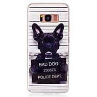billige Etuier / covers til Galaxy S-modellerne-Etui Til Samsung Galaxy S8 S7 edge IMD Mønster Bagcover Hund Blødt TPU for S8 S7 edge S7 S6 edge S6 S5