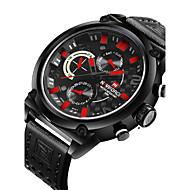 Недорогие Фирменные часы-NAVIFORCE Муж. Спортивные часы / Наручные часы Календарь / С двумя часовыми поясами / Cool PU Группа Роскошь / На каждый день / Мода Черный / Коричневый