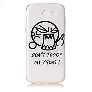 Etui Käyttötarkoitus Samsung Galaxy J5 (2016) J3 (2016) Läpinäkyvä Koristeltu Kuvio Takakuori Sana / lause Piirretty Pehmeä TPU varten J5