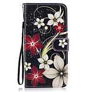 Недорогие Чехлы и кейсы для Galaxy S8-Кейс для Назначение SSamsung Galaxy S8 Plus S8 Кошелек Бумажник для карт со стендом Флип С узором Магнитный Чехол Цветы Твердый