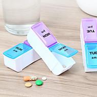 PP (Πολυπροπυλένιο) Θήκη/Κουτί χαπιών ταξιδιού Κουτί/Βαλιτσάκι ταξιδίου για φάρμακα Υδατοστεγανό Αδιάβροχη Φορητό Non Toxic Αποθηκευτικοί