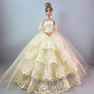 저렴한 -파티/이브닝 드레스 에 대한 바비 인형 에 대한 여자의 인형 장난감