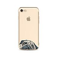 abordables Ofertas de Hoy-Funda Para Apple iPhone X / iPhone 8 Plus Transparente / Diseños Funda Trasera Perro Suave TPU para iPhone X / iPhone 8 Plus / iPhone 8