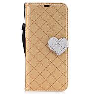 Недорогие Чехлы и кейсы для Galaxy S8 Plus-Кейс для Назначение SSamsung Galaxy S8 Plus S8 Кошелек Бумажник для карт со стендом Флип Магнитный Чехол Сплошной цвет С сердцем