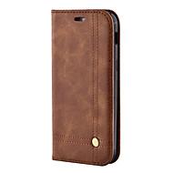 olcso -Case Kompatibilitás Samsung Galaxy A5(2017) A3(2017) Pénztárca Kártyatartó Állvánnyal Flip Mágneses Teljes védelem Tömör szín Kemény