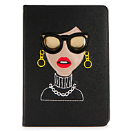 Voor apple ipad mini1 2 3/4 case cover met tribune flip patroon volledige body case sexy dame hard pu leer