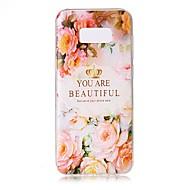Для Чехлы панели Прозрачный Рельефный С узором Задняя крышка Кейс для Слова / выражения Цветы Мягкий TPU для Samsung S8 S8 Plus S7 edge S7