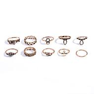رخيصةأون -نسائي مجموعة مجوهرات حجر الراين مخصص, موضة, euramerican في تتضمن خاتم ذهبي / فضي من أجل مناسب للبس اليومي فضفاض الأماكن المفتوحة / الحلقات