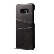 Case For Samsung Galaxy S8 Plus / S8 Card Holder Back Cover Solid Colored Hard PU Leather for S8 Plus / S8