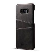 ケース 用途 Samsung Galaxy S8 Plus / S8 カードホルダー バックカバー ソリッド ハード PUレザー のために S8 Plus / S8