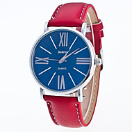 cheap Jewelry & Watches-Men's Wrist Watch Chinese Casual Watch Leather Band Casual / Fashion Black / White / Red
