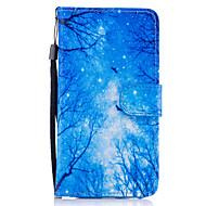 Недорогие Чехлы и кейсы для Galaxy A5(2017)-Кейс для Назначение SSamsung Galaxy A5(2017) A3(2017) Бумажник для карт Кошелек со стендом Флип Магнитный С узором Чехол дерево Твердый