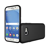 Недорогие Чехлы и кейсы для Galaxy A7(2017)-Кейс для Назначение SSamsung Galaxy A7(2017) A5(2017) Защита от удара Кейс на заднюю панель Сплошной цвет Твердый ПК для A5 (2017) A7