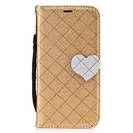 Для Samsung galaxy a5 (2017) a3 (2017) алмазный шаблон сердце магнитная пряжка pu кожаный материал кошелек функция телефон кейс для a510
