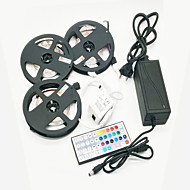 cheap LED Strip Lights-ZDM 15M(3*5M) Waterproof 72W 900X2835 RGB LEDs Strip Flexible Light with 44Key IR Remote Controller Kit and 12V 6A EU/US/AU Power Supply AC110-240V