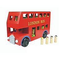 voordelige Speelgoed & Hobby's-Speelgoedauto's Bouwblokken Educatief speelgoed Speeltjes Bus Hout Kinderen Stuks