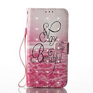 Недорогие Чехлы и кейсы для Galaxy S8-Кейс для Назначение SSamsung Galaxy S8 Plus S8 Бумажник для карт Кошелек со стендом Флип Магнитный С узором Чехол Пейзаж Твердый Кожа PU