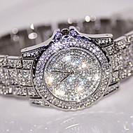 billige Modeure-Dame Diamantbelagt ur Simuleret Diamant Ur Unik Creative Watch Armbåndsur Kjoleur Modeur Kinesisk Quartz Rhinsten / Rustfrit stål Bånd