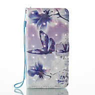 Samsung galaxy 3d effect бабочка и цветочным узором pu материал кошелек раздел телефон чехол для j510 j310 j3