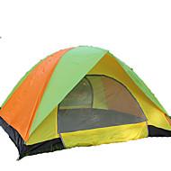 GAZELLE OUTDOORS 3-4人 テント ダブル キャンプテント 1つのルーム 折り畳みテント 防湿 防水 防風 抗紫外線 折り畳み式 通気性 のために ハイキング キャンピング 屋外 <1000mm ファイバーグラス オックスフォード-190*180*120 cm