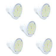 お買い得  LED スポットライト-5pcs led smd2835 48led mr16 gu10 ledスポットライト暖かく/クールな白いスポットライトlampada ledランプac220-240v