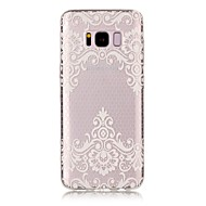 cheap Galaxy S7 Edge Cases / Covers-For Samsung Galaxy S8 Plus S8 Case Cover Transparent Pattern Back Cover Case Flower Soft TPU for S7 edge S7 S6 edge S6 S5