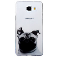 voordelige Galaxy A-serie hoesjes / covers-hoesje Voor Samsung Galaxy A5(2017) A3(2017) IMD Transparant Patroon Achterkantje Hond dier Zacht TPU voor A3 (2017) A5 (2017) A5(2016)