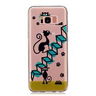tok Για Samsung Galaxy S8 Plus S8 IMD Διαφανής Με σχέδια Πίσω Κάλυμμα Γάτα Μαλακή TPU για S8 S8 Plus S5 Mini S4 Mini