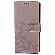 Недорогие Чехлы и кейсы для Galaxy Core Prime-Кейс для Назначение SSamsung Galaxy J7 Prime J5 Prime Бумажник для карт Кошелек со стендом Флип Рельефный Чехол Сплошной цвет Твердый