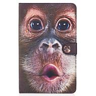 Недорогие Чехлы и кейсы для Samsung Tab-Кейс для Назначение SSamsung Galaxy Бумажник для карт Кошелек со стендом Флип Магнитный С узором Чехол Животное Твердый Кожа PU для Tab E