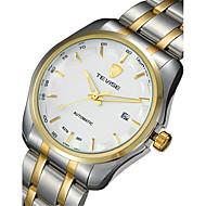 abordables Relojes de Vestir-Tevise Hombre Pareja Reloj de Moda El reloj mecánico Cuarzo Calendario Resistente al Agua Luminoso Acero Inoxidable Banda Vintage Casual