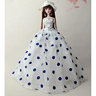 abordables -Fiesta / Noche Vestidos por Barbiedoll Tela de Encaje / Organdí Esmoquin por Chica de muñeca de juguete