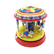 cheap Toys & Hobbies-Wind-up Toy Toys Cute Cylindrical Horse Carousel Merry Go Round Iron Metal 1 Pieces Children's Gift