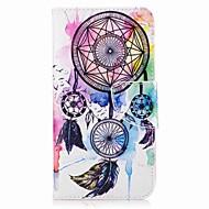 Недорогие Чехлы и кейсы для Galaxy J5-Кейс для Назначение SSamsung Galaxy J7 (2016) J5 (2016) Кошелек Бумажник для карт со стендом Флип С узором Чехол Ловец снов Твердый