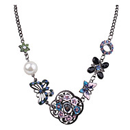 Жен. Заявление ожерелья В форме цветка Геометрической формы В форме животных Сплав Уникальный дизайн Цветочный дизайн Цветы Цветочный