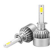 cheap -2pcs H1 Car Light Bulbs 36 W COB 3600 lm Headlamp For