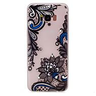 For Rhinsten Lyser i mørket Mønster Etui Bagcover Etui blondedesign Blomst Blødt TPU for Samsung S8 S8 Plus S7 edge S7