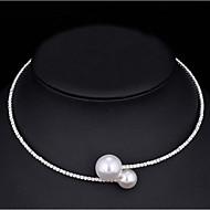 Damen Halsketten Perle Kubikzirkonia Kubikzirkonia Basis Weiß Schmuck Für Hochzeit Besondere Anlässe Verlobung Normal 1 Stück