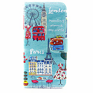 Для Чехлы панели Кошелек Бумажник для карт со стендом Флип Чехол Кейс для Панорама города Твердый Искусственная кожа для SamsungS8 S7
