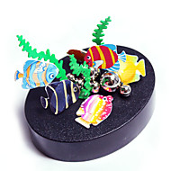 Magnetic Sculpture DIY KIT Magnet Toys Display Model Metal Puzzles Pieces Toys Creative Magnetic DIY Colorful Circular Fish Christmas