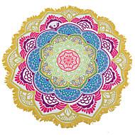 Indisk mandala strandhandduk stor lotus utskrift handduk strand rund pool hem dusch handduk filt 150cm