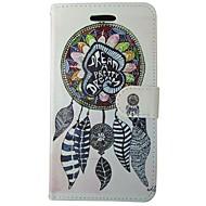 Недорогие Чехлы и кейсы для Galaxy A5(2016)-Кейс для Назначение SSamsung Galaxy A5(2017) A3(2017) Бумажник для карт Кошелек со стендом Флип Чехол Геометрический рисунок  Перья